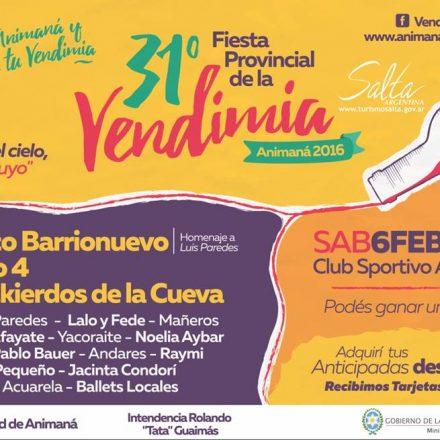31º Fiesta provincial de la Vendimia en Animaná – Salta