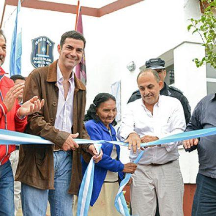 Urtubey inauguró  un nuevo puesto policial en Pluma de Pato, departamento Rivadavia