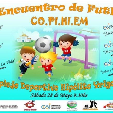 En Hipólito Yrigoyen se realizará un encuentro de fútbol infantil