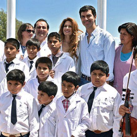 Urtubey inauguró el nuevo edificio de la escuela rural N°4203 en El Quebrachal