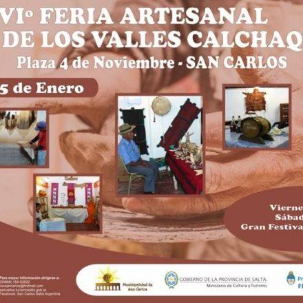 XXXVIº Feria artesanal de los Valles Calchaquíes en SAN CARLOS – SALTA