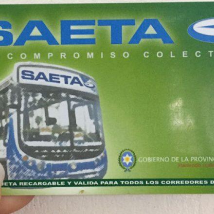 Por la renovación de tarjetas, Saeta atenderá éste fin de semana