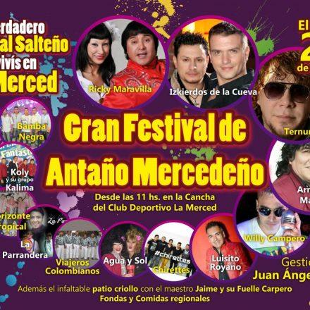 Mañana se presentará el festival de Antaño Mercedeño
