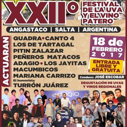 XXIIº Festival de la Uva y el Vino Patero en ANGASTACO – SALTA