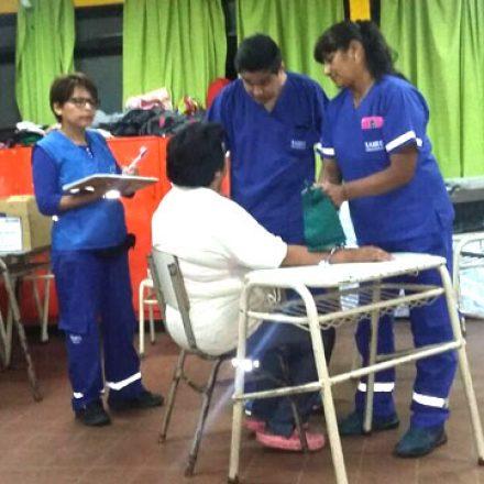 El Gobierno asiste a la población afectada por las lluvias en Anta y el norte