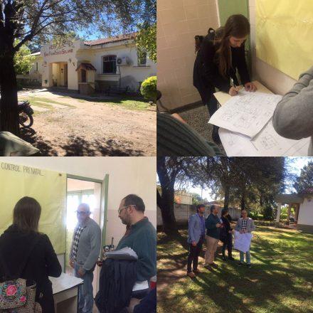 Sierra recorrió el hospital de El Galpón junto a un equipo del Ministerio de Salud