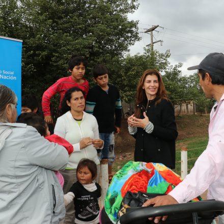 Bettina Romero encabezó el operativo de asistencia a Las Lajitas tras las inundaciones