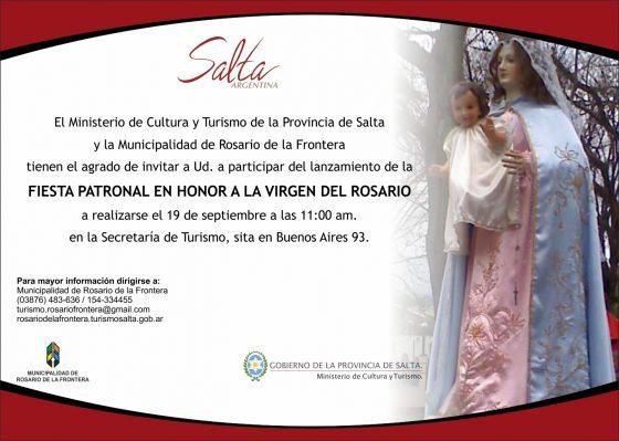 Lanzamiento – Fiesta patronal en honor a la Virgen del Rosario