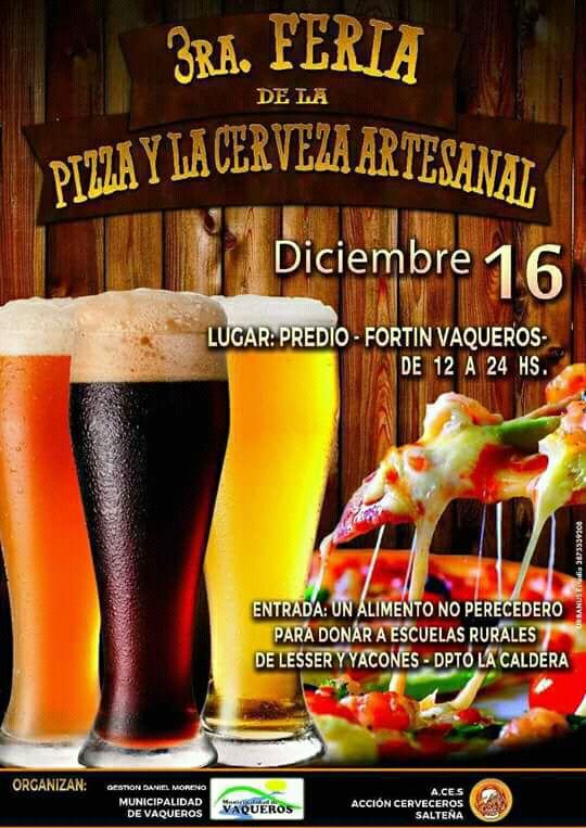 3º Fiesta de la Pizza y la Cerveza Artesanal