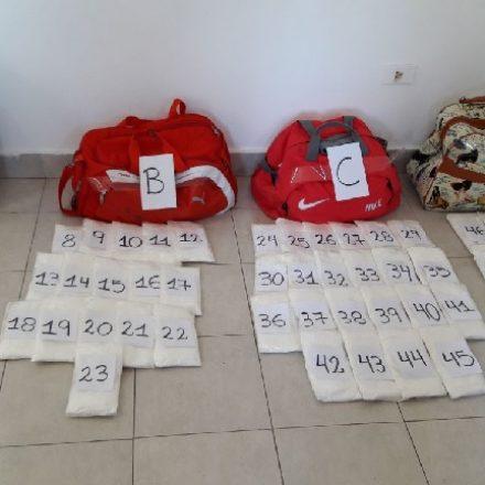 Detienen a tres mujeres que viajaban en un ómnibus con 20 kilos de cocaína