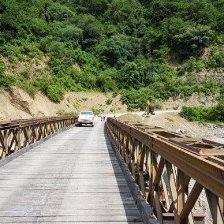 Vialidad de la Provincia habilitó el tránsito en el puente de Los Toldos para autos y camionetas