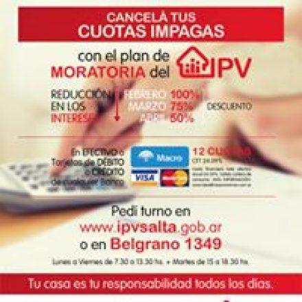 Moratoria: obtené tu turno en las oficinas del IPV para reducir el 100% de los intereses