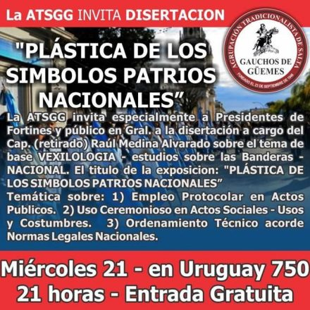 Disertación:  «Plástica de los símbolos patrios nacionales»
