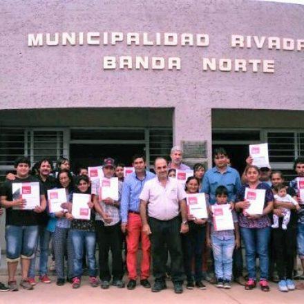 El IPV entregó 25 soluciones habitacionales a comunidades de Rivadavia Banda Norte