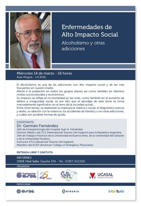 """El miércoles se realizará el taller """"Enfermedades de alto impacto social"""""""