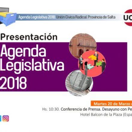 Presentación Agenda Legislativa de Unión Cívica Radical Salta