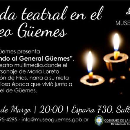 Velada teatral en el Museo Güemes – Salta