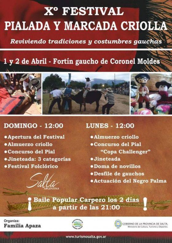 Xº Festival de Pialada y Marcada Criolla en Coronel Moldes – Salta