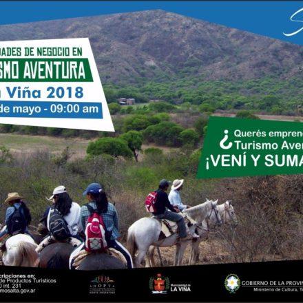"""En La Viña se realizará el taller """"Oportunidades de Negocio en Turismo Aventura"""""""