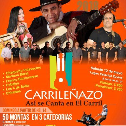 """El festival de canto y jineteada """"Carrileñazo 2018"""" ya tiene fecha, del 11 al 13 de mayo"""