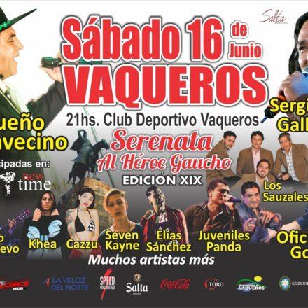 Presentarán una nueva edición de la Serenata al Héroe Gaucho en Vaqueros