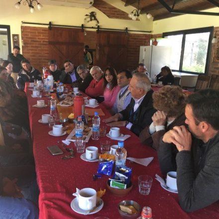 Romero mantuvo una extensa agenda en Rosario de la Frontera