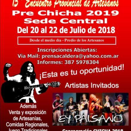 La Caldera: Se viene la Prechicha 2019 y 15º Encuentro Provincial de Artesanos