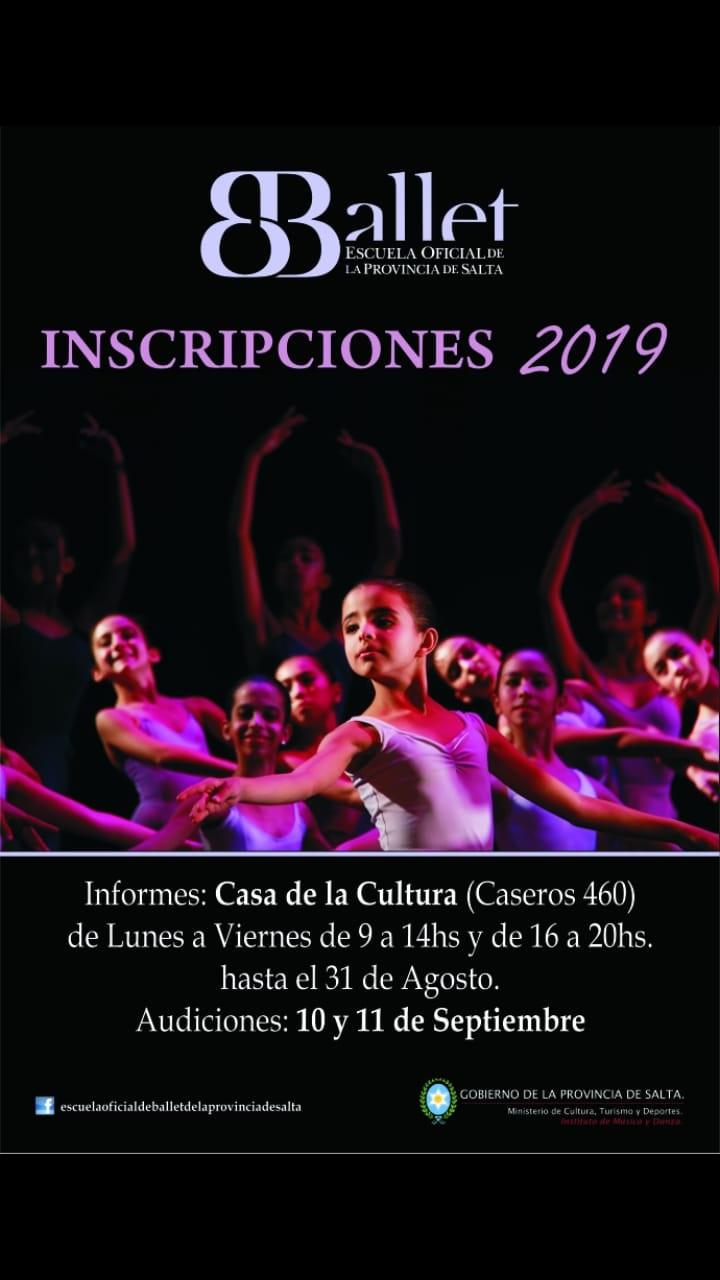 Más de 200 niños y jóvenes audicionaran para ingresar a la Escuela Oficial de Ballet de la Provincia
