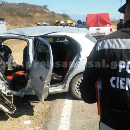 Siniestro vial en El Galpón con víctimas fatales