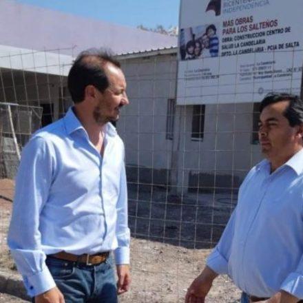 Funcionarios supervisaron la construcción del centro de salud de La Candelaria