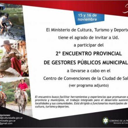 Se viene el 2° Encuentro Provincial de Gestores Públicos Municipales