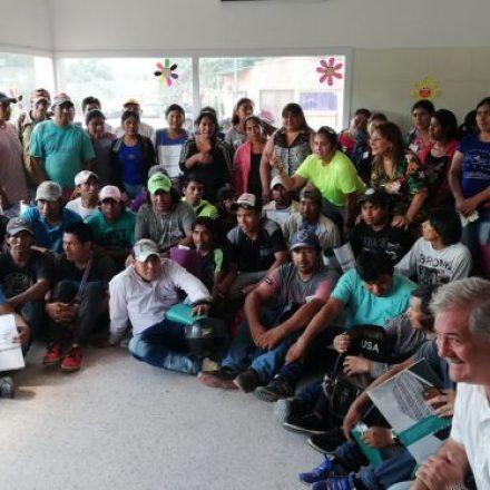 Edith Cruz se reunió con los promotores del Centro Socio Sanitario de Coronel Juan Solá