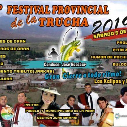 21º Festival provincial de la Trucha en LA POMA – SALTA