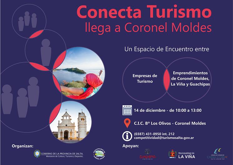 """Mañana se realizará el evento """"Conecta Turismo Moldes 2018"""""""