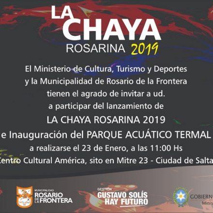 Mañana se realizará el lanzamiento de La Chaya Rosarina 2019