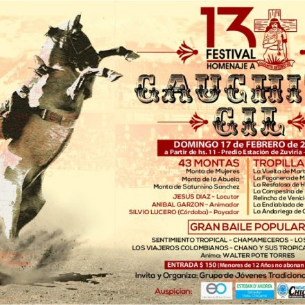El Carril presentará el Festival en Homenaje al Gauchito Gil