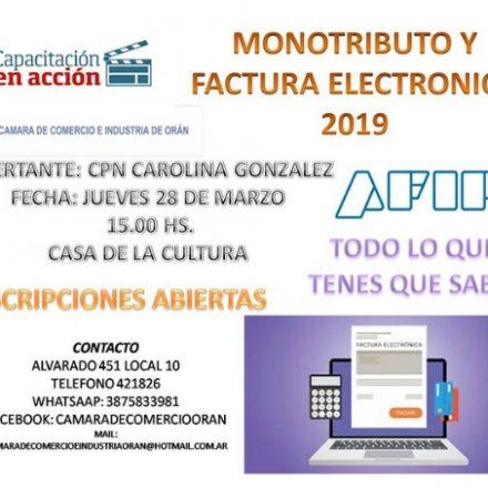 Capacitación sobre Monotributo y factura electrónica en Orán