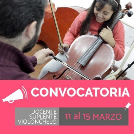 Convocatoria para cubrir horas cátedra docentes del instrumento violonchelo en la Orquesta Sinfónica Infantil y Juvenil de Salta