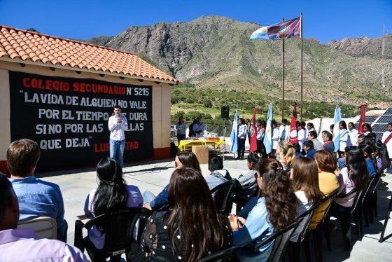 El Gobierno inauguró un edificio para formación secundaria en Luracatao