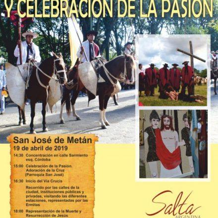 VIIIº Vía Crucis Gaucho y Celebración de la Pasión en San José de Metán-Salta