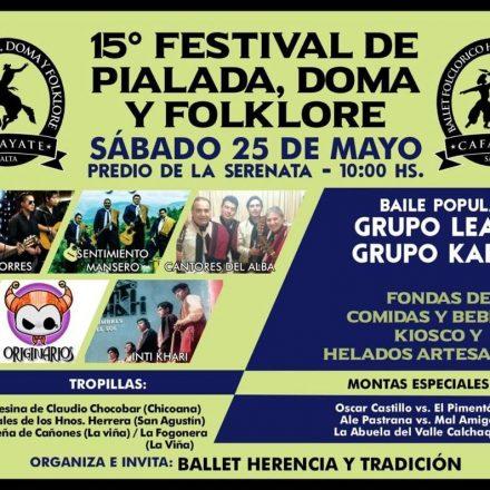 15º Festival de Pialada, Doma y Folclore en Cafayate