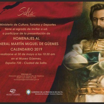 Presentarán el Calendario Gûemesiano 2019