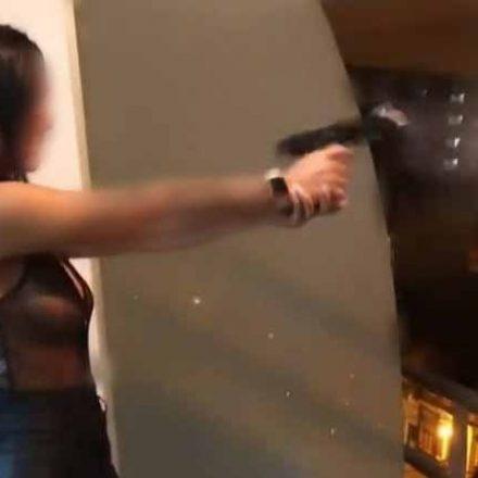 Identifican y buscan a la mujer que efectuó disparos con un arma de fuego
