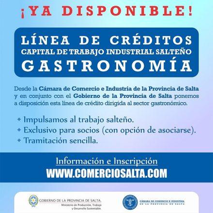 Requisitos de la Línea de Crédito Capital de Trabajo Salteño para gastronómicos