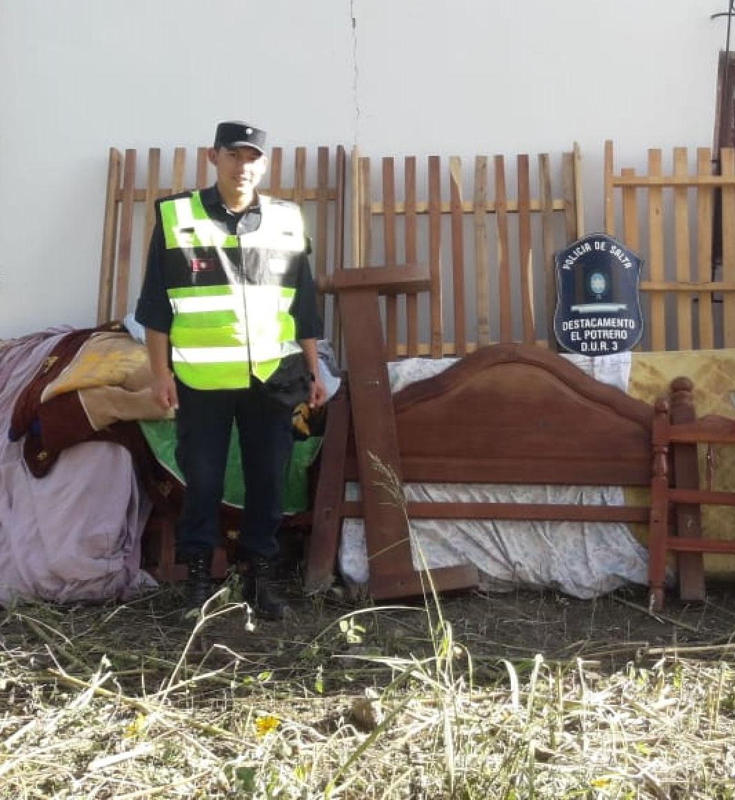 Recuperaron muebles robados en Rosario de la Frontera