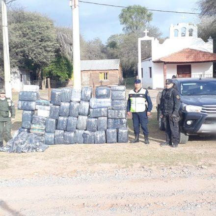 Incautan más de 700 kilogramos de hojas de coca de contrabando