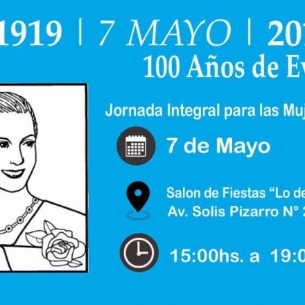 100 años de Evita: «Jornada Integral para las mujeres»
