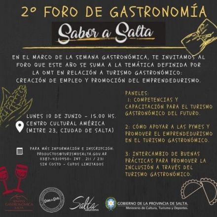 Sin costo, este lunes se realizará el 2º Foro de Gastronomía Sabor a Salta