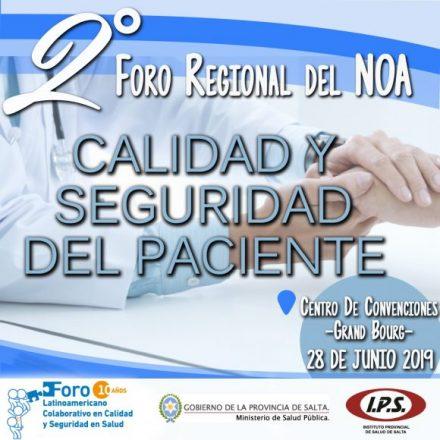 Salta recibirá mañana el II Foro Regional NOA sobre Calidad y Seguridad del Paciente