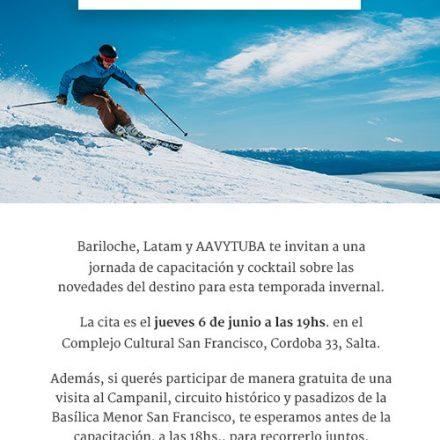 Bariloche promocionará en Salta su oferta turística para las vacaciones de invierno
